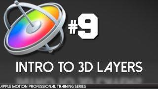 Ultra AV tarafından 9 Apple Motion 3D Katmanları Apple Motion Mesleki Eğitim-
