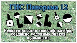 ГИС Панорама 12: Редактирование классификатора, создание условных знаков и семантик