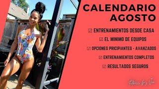 CALENDARIO MES AGOSTO| Fitness by Vivi