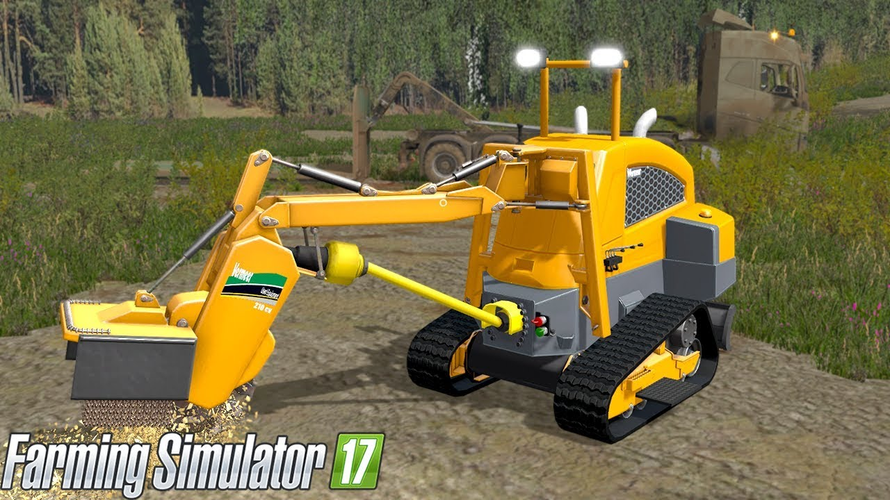 Vermeer Stump Grinder >> Farming Simulator 2017 - VERMEER SC30TX STUMP GRINDER ...