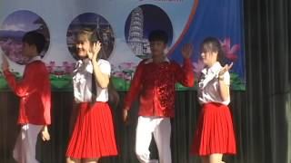 Bài nhảy Ca-Chiu-Sa hoạt động trải nghiệm sáng tạo trường THPT Nguyễn Trung Thiên