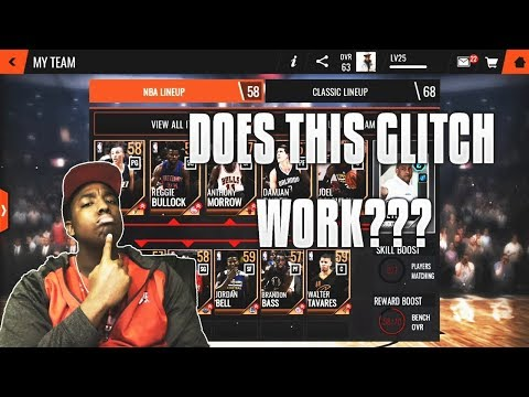 DOES THE PACK GLITCH WORK IN NBA LIVE MOBILE 18???