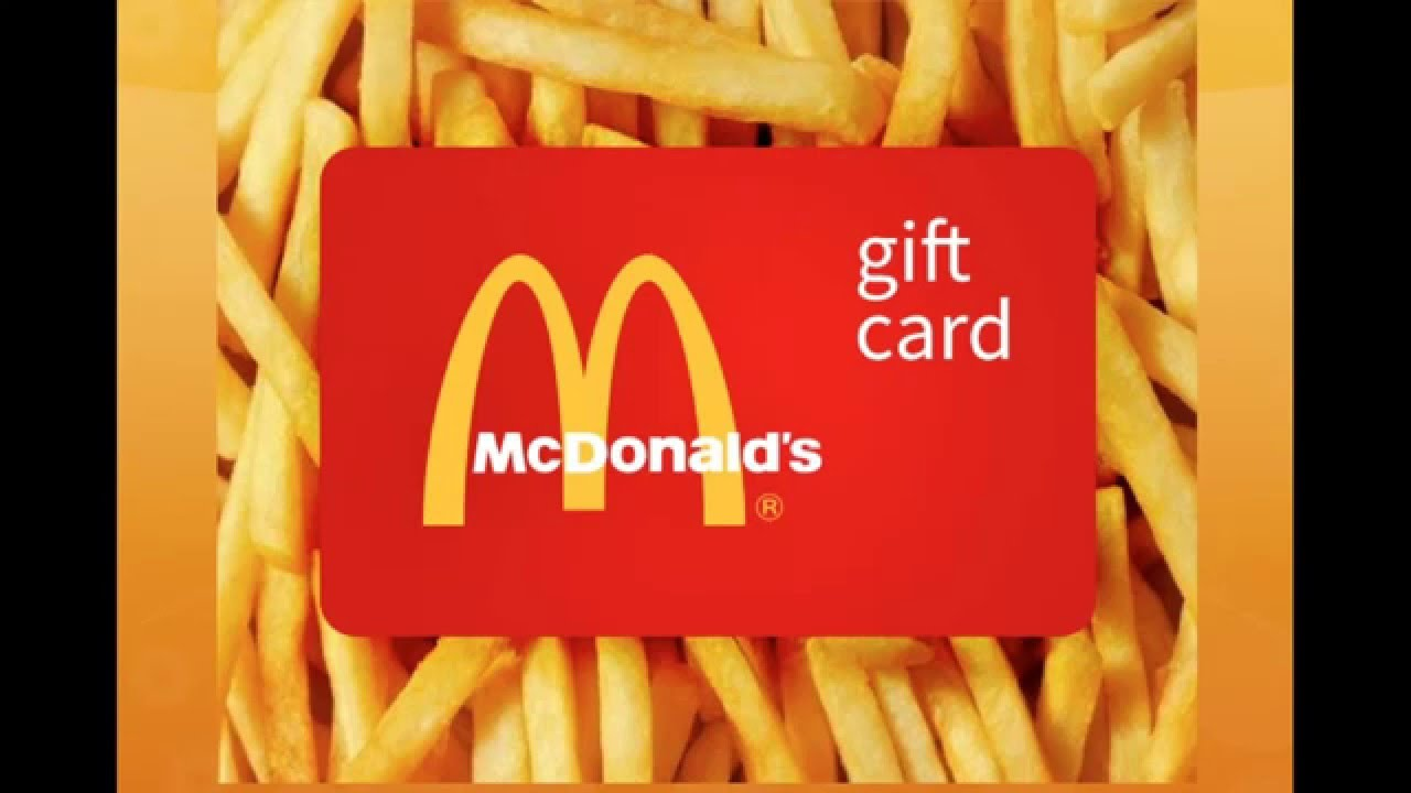 Mcdonald gift card youtube mcdonald gift card 1betcityfo Image collections