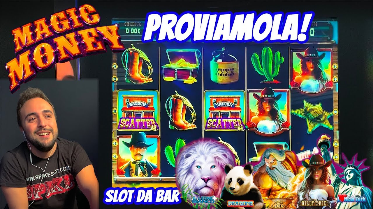 SLOT MACHINE DA BAR - Proviamo la MAGIC MONEY???? (Multigioco CRISTALTEC)