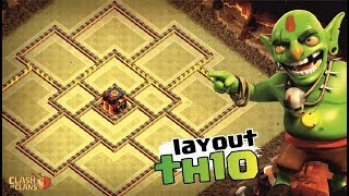 NOVO LAYOUT ANTI QUEENWALK CV10 | TH10 WAR BASE 2018 | ANTI LANÇADOR BOWLER | CLASH OF CLANS