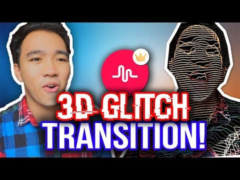 MUSICAL.LY 3D GLITCH TRANSITION TUTORIAL + GIVEAWAY! *NEW*