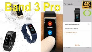 Unboxing and initial review of Huawei Band 3 Pro - how to get started