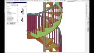 Building A Set Of Spiral Stairs Using A Combo Of Psolids And A Curved Set Of Stairs.  Good Vid.