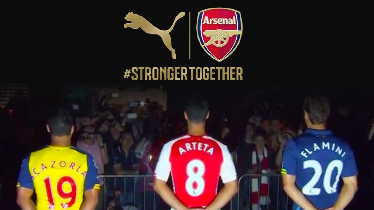 Arsenal Kit 201415 New Puma Shirt Unveiled In London The Independent