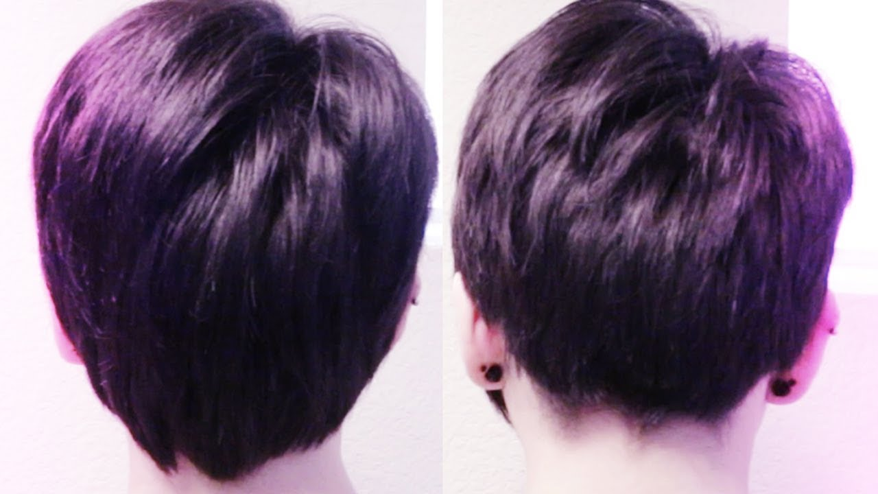 How To Cut Back Of Hair Pixie Cut Youtube