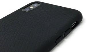 Installing Spigen Liquid Air (Matte Black) onto iPhone X【4K】