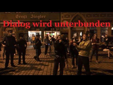 Markus Haintz' Dialogversuch mit Antifa wird von Polizei unterbunden 19.09 Landshut