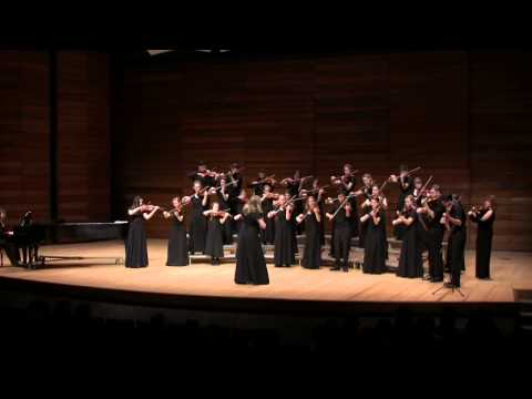Siskiyou Violins performing Perpetuo Mobile at SOU Recital Hall 2/8/14