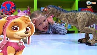 СКАЙ ЩЕНЯЧИЙ ПАТРУЛЬ Игрушки Распаковка Динозавра от Ярославы Игрушки для детей PAW PATROL TOYS