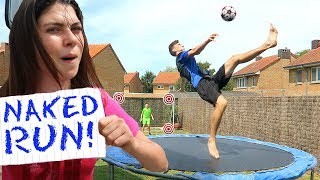 TRAMPOLINE FORFEIT FOOTBALL CHALLENGE!! Video