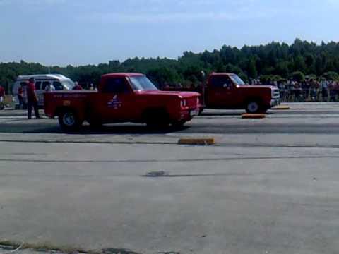 dodge pickup    dodge stepside mile drag race youtube