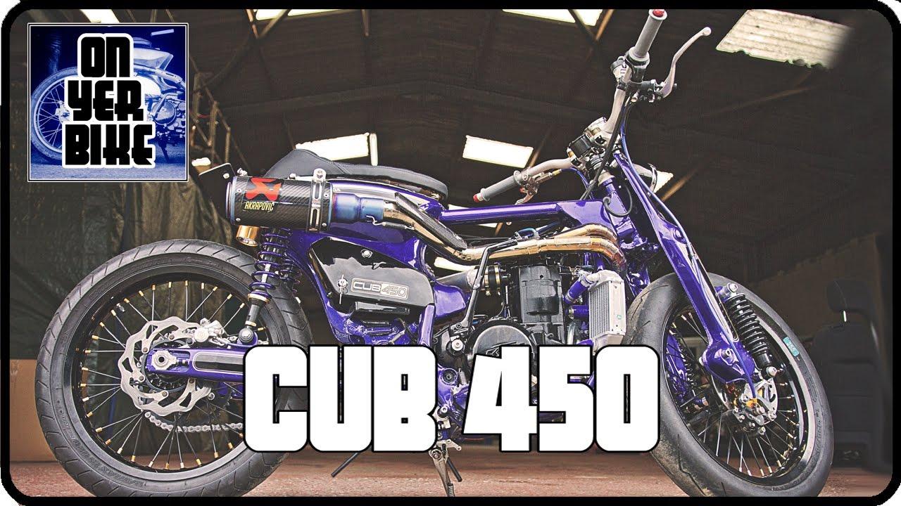 A Honda C90 On Steroids The Cub 450 Choppy Cub 450 Xe M YouTube