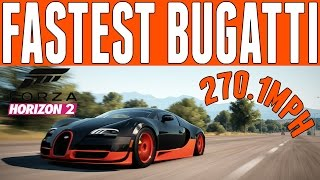 Forza Horizon 2 Top Speed Build : Bugatti Veyron Super Sport (270.1mph)