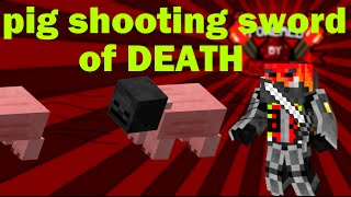 Minecraft: The Pig Shooting Sword of Death (Rotation and Hit Detection & Mob Projectiles)