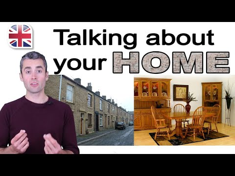 Spoken English Lesson - Talking About Your Home - How to Describe Your Home in English