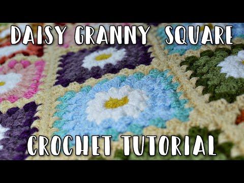 How To Crochet - Daisy Granny Square Tutorial Free Pattern - YouTube