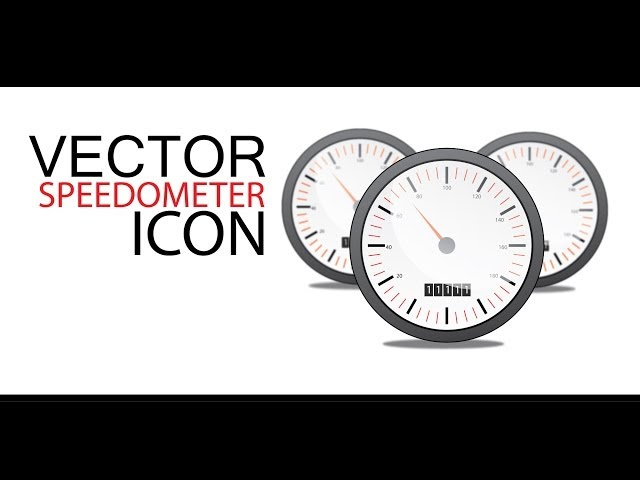 VECTOR SPEEDOMETER Icon - Adobe Illustrator cs6
