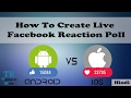 How To Create Live Facebook Reaction Poll [Hindi]