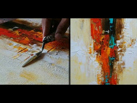 Abstract Painting / How to make abstract painting for Beginners / Demonstration / Tutorial