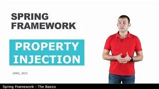 Внедрение через property - 7 - The Basics of Spring Framework