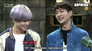 [ENG SUB] 150605 SHINee Onew & Taemin - Witch Hunt cut (Received underwear on stage)