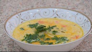 Суп с плавленным сыром.