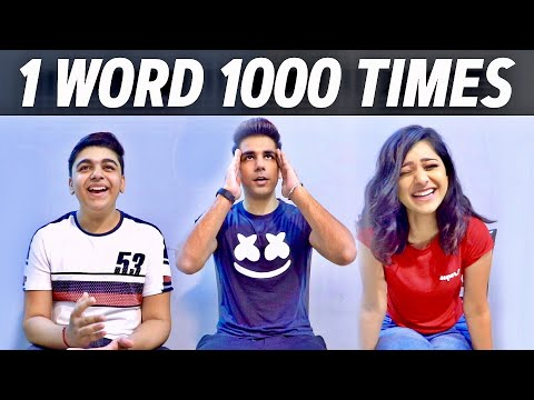 Download SAYING ONE WORD for 1000 TIMES | Rimorav Vlogs Mp4 baru