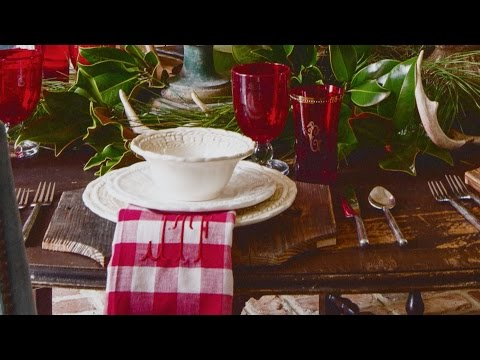 Setting a Christmas Table with James Farmer | Southern Living