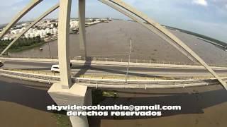 Puente Pumarejo, Magdalena desde el aire.  Cybul tienda de modelos