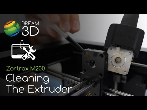 Zortrax M200 - Cleaning the Extruder | Support | Dream 3D