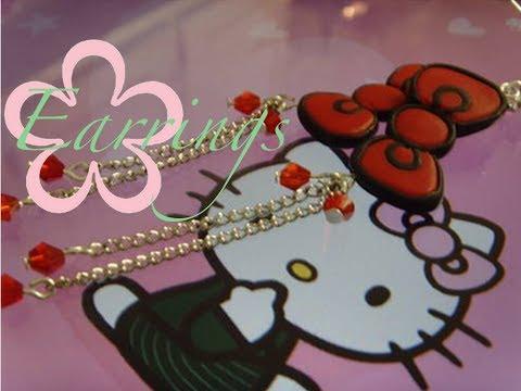 diy:-meiiris'-hello-kitty-bow-earrings-tutorial