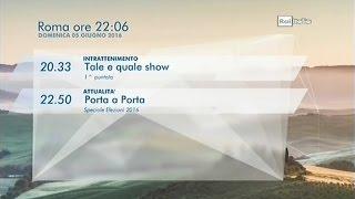 RAI Italia | Bumper + orari (2016).