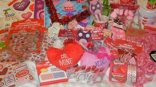 HUGE Dollar Tree Haul: January 2015 Valentine's Day Items