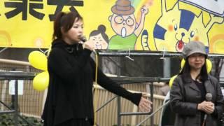 脱原発の名古屋,久屋後援での集会です。 女優の松田美由紀さんのトーク...