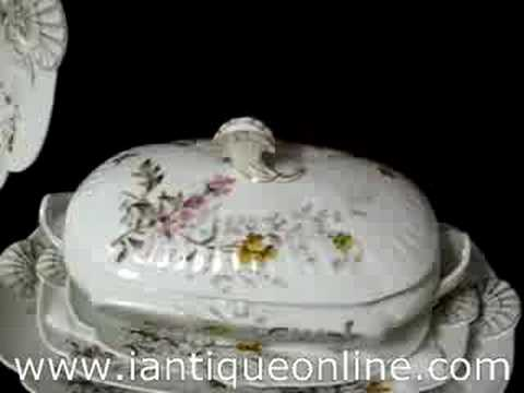 Antique China Haviland Limoges Meadow Visitor
