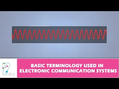 BASIC TERMINOLOGY USED IN ELECTRONIC COMMUNICATION SYSTEMS