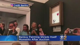 Banksy Art Destroyes Itself Moments After Auction