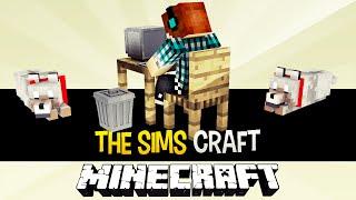 The Sims Craft Ep.3 - Computador e Animais de Estimação - Minecraft