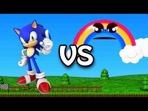 Sonic vs. Chica's Magic Rainbow   FNAF World Mod