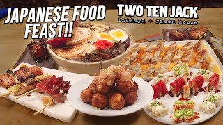8lb Japanese Feast Food Challenge w/ Pork Gyoza, Ramen, and Sushi!!