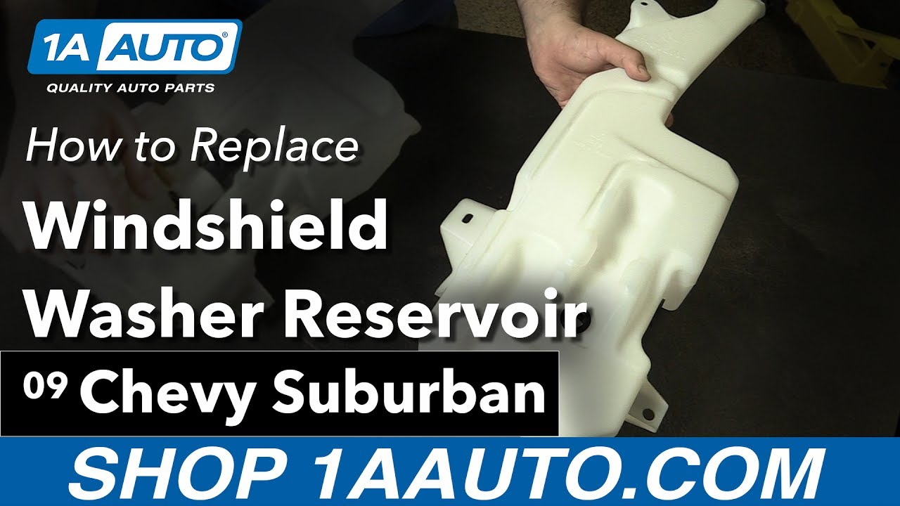 How to Replace Windshield Washer Reservoir 0714 Chevy suburban  YouTube