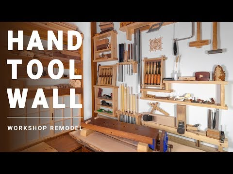 Hand Tool Wall // Workshop Remodel in Japanese Style