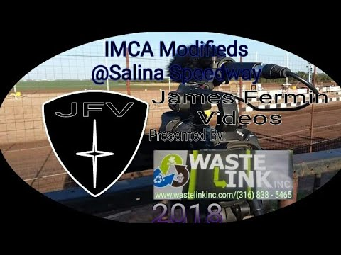 IMCA Modifieds #2, Heat 2, Salina Speedway, 2018