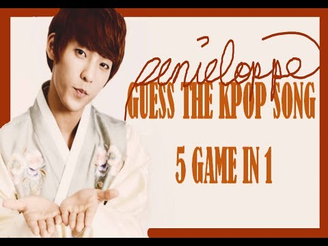 5 GAMES IN 1 II GUESS THE KPOP SONG (Male artists version)