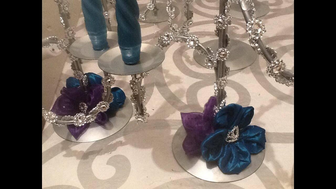 Candelabro de centro de mesa para xv a os chandelier for Cubre sillas para 15 anos